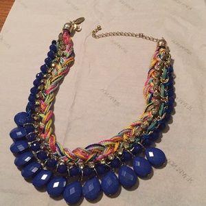 Cara blue embellished necklace